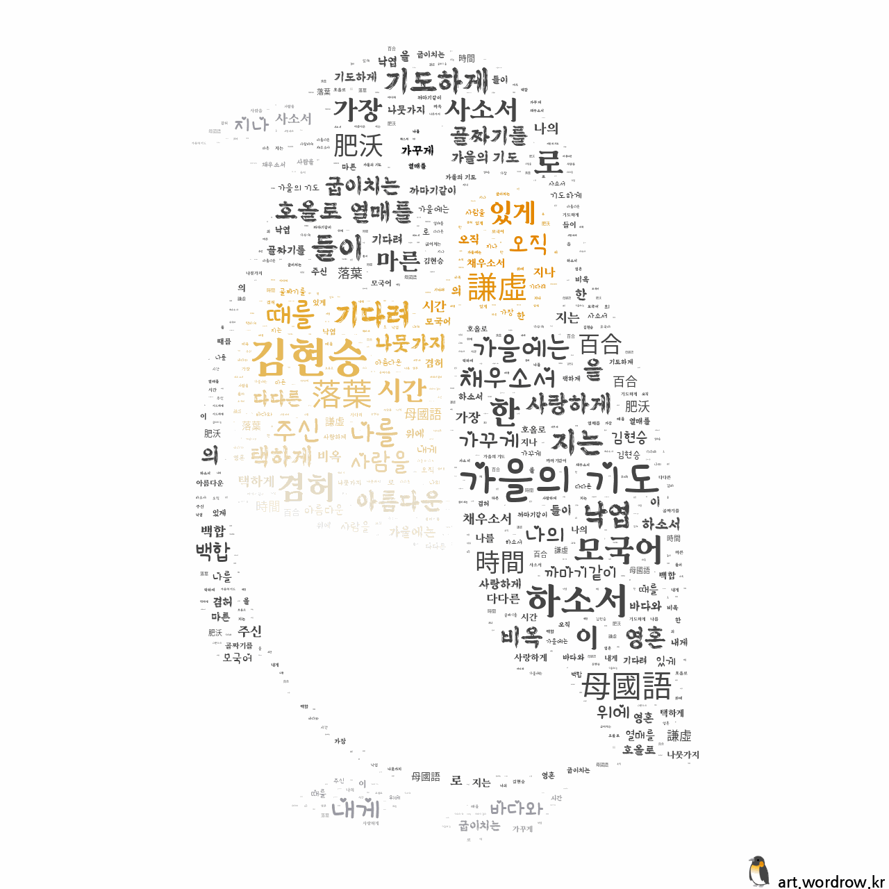 워드 클라우드: 가을의 기도 [김현승]-18